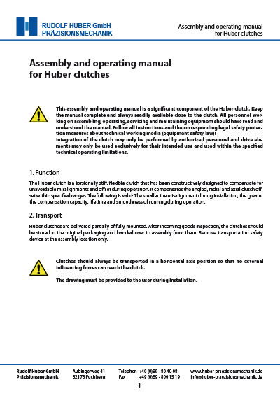 Assembly_and_operating_manual_for_Huber_clutches_cover